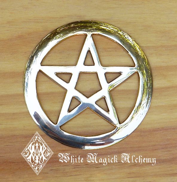 "White Magick Alchemy - Pentacle Brass Altar Tile 4"", $16.95 (http://www.whitemagickalchemy.com/copy-of-pentacle-brass-altar-tile-4/)"