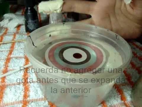 Técnica del agua o marmoleado. Trucos y tips para que quede bien