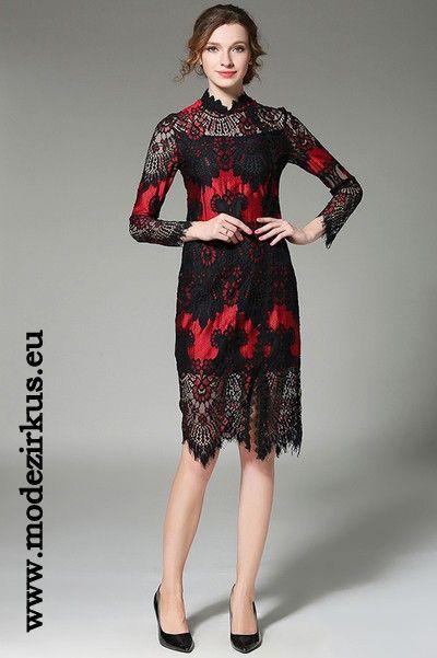 Schwarzes kleid rot farben