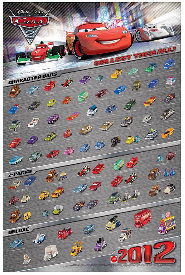 Mattel Disney Pixar CARS 2 Diecast New International