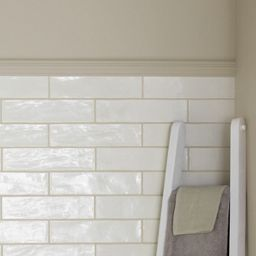 Wickes Farmhouse Pannacotta Ceramic Wall Tile 300 X 75mm
