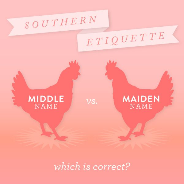 Southern Etiquette: Middle V. Maiden Name