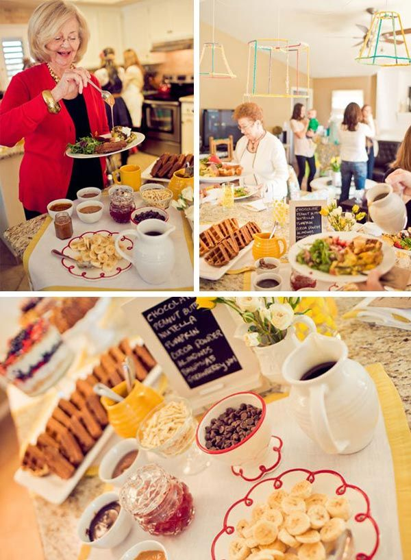 Waffle bar. Love this idea for a brunch!