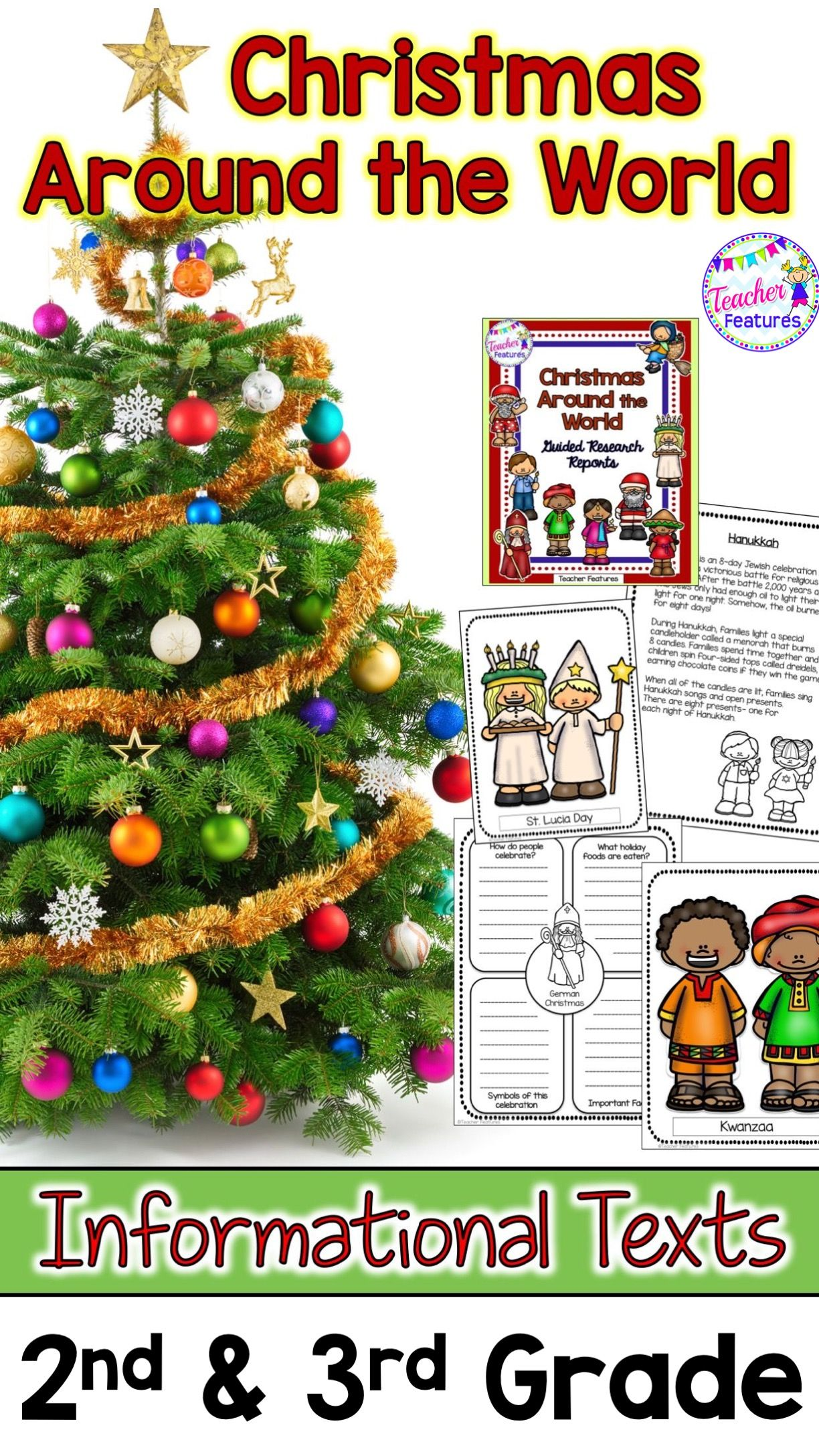Christmas Around The World Writing Project With