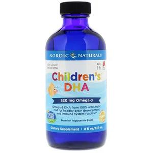 Nordic Naturals Children S Dha للأطفال من عمر 1 6 سنوات فراولة 530 ملجم 8 أونصات سائلة 237 مل 딸기 건강한 건강