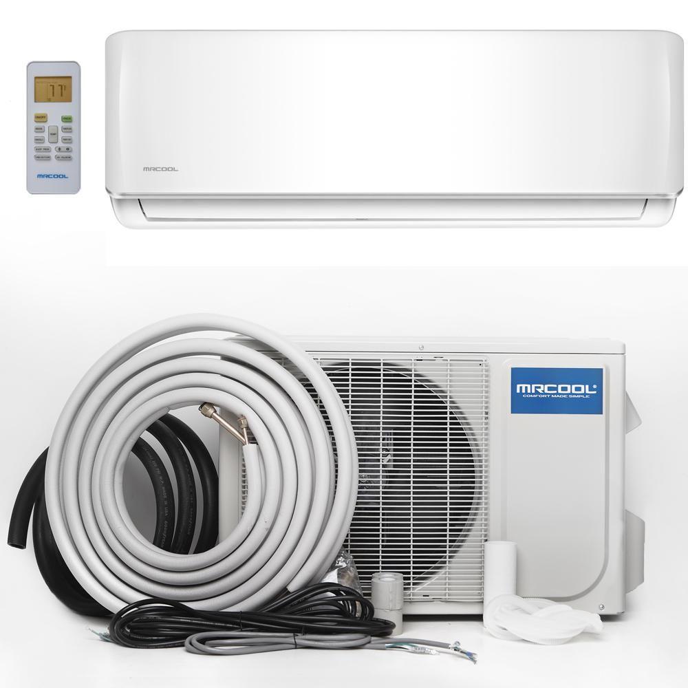Mrcool Advantage 12 000 Btu 1 Ton Ductless Mini Split Air Conditioner And Heat Pump 230v 60 Hz A 12 Hp 230a Ductless Heat Pump Heat Pump Air Conditioner With Heater