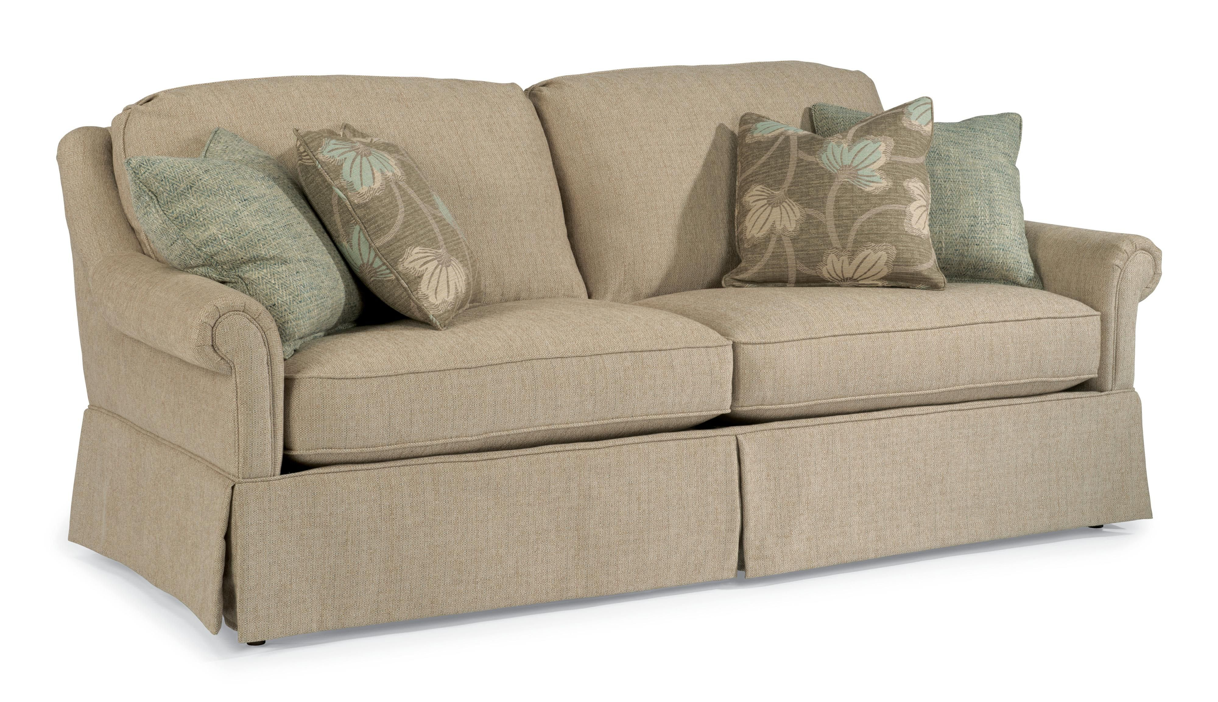Great Traditional Skirted Sofa With Tight Rolled Arms Waco, Temple, Killeen,  Texas Furniture Store