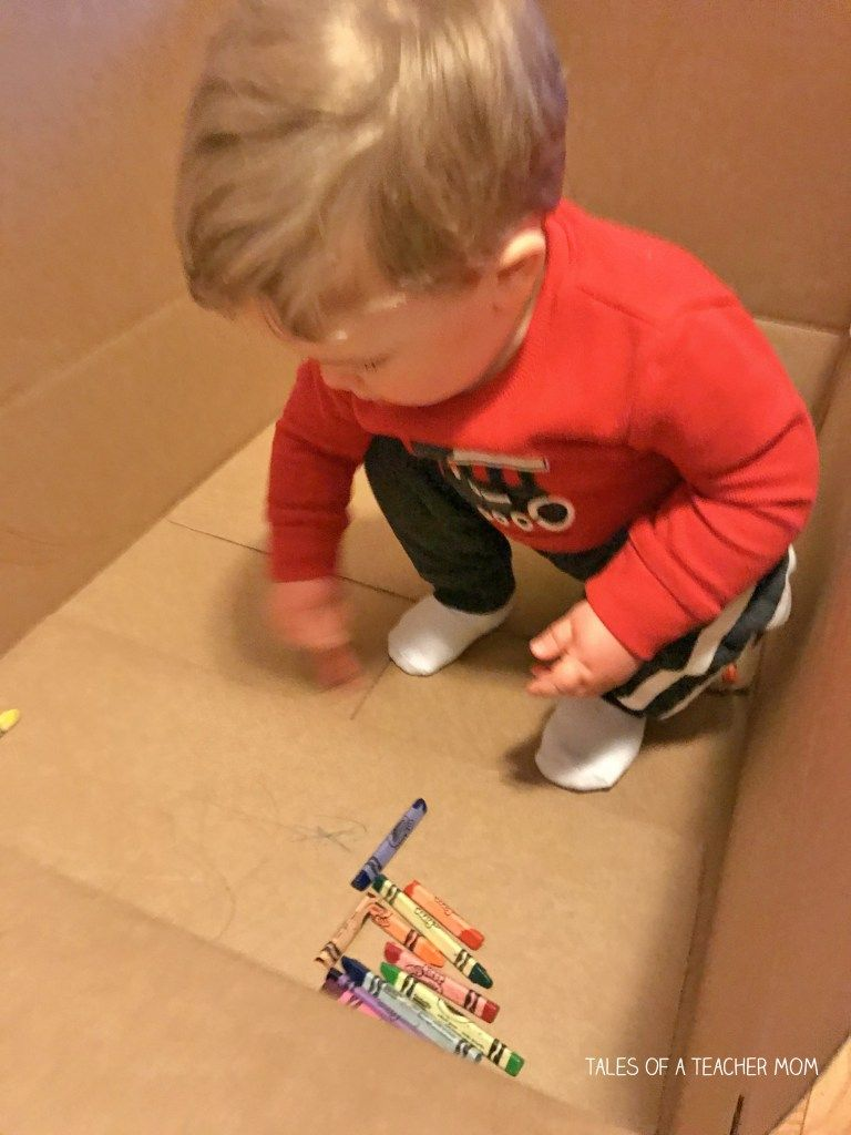 Cardboard Box Coloring Tales Of A Teacher Mom Teacher Mom Activities For 1 Year Olds Airplane Activities