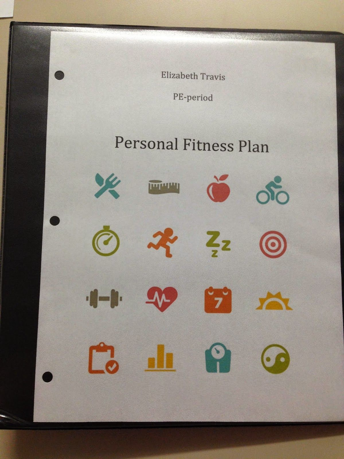 Creating personal fitness plan lesson plan for high school – Personal Fitness Worksheet