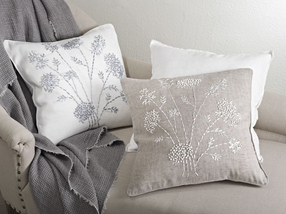 Jardin Des Tuileries Collection in Ivory and Natural | Pillow Fight ...