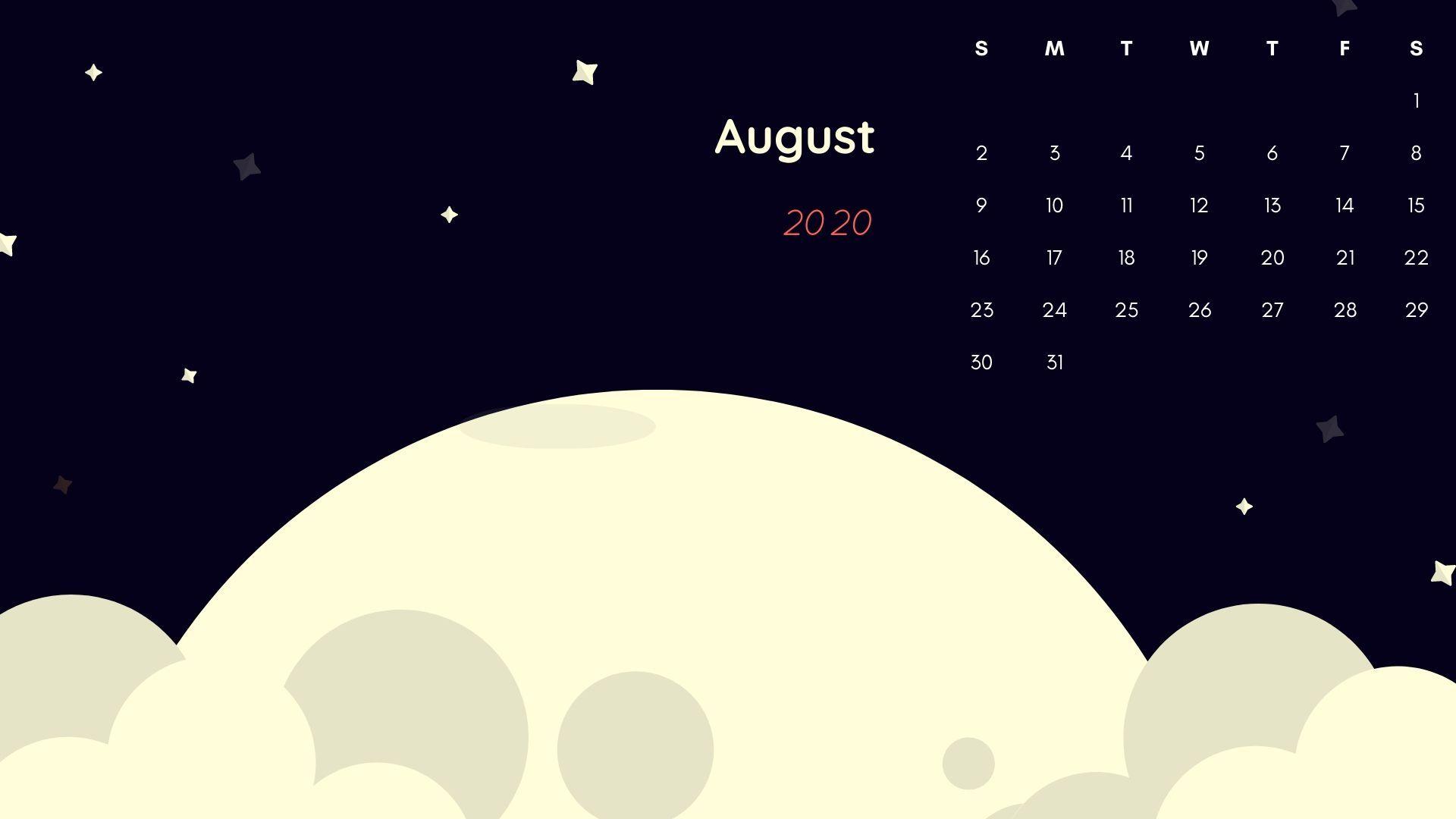 Download August 2020 Desktop Calendar Wallpaper Free For Computer Desktop Background In 2020 Desktop Calendar Calendar Wallpaper Backgrounds Desktop