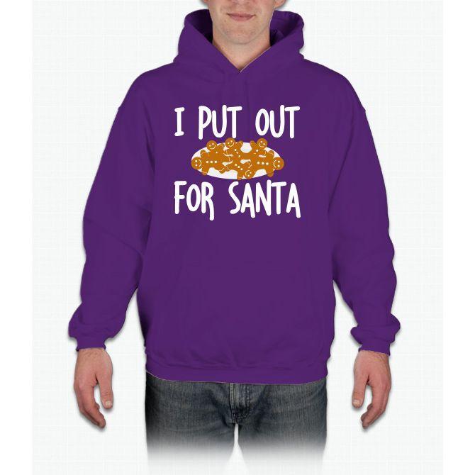 Cookies I Put Out For Santa Christmas Hoodie Sweatshirt