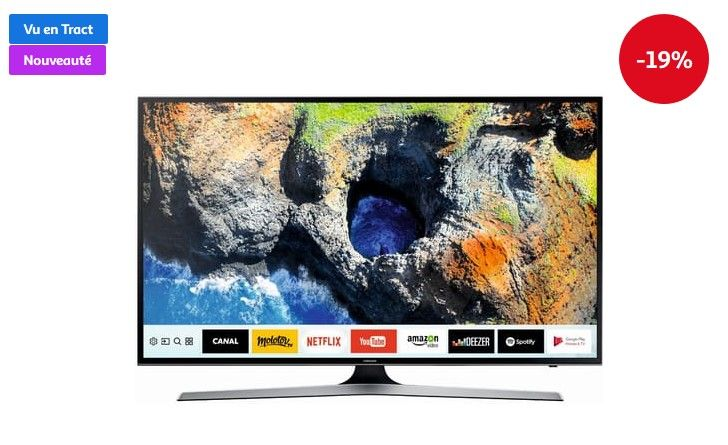 56b0319585b SAMSUNG UE50MU6125 TV LED UHD 125 cm pas cher prix Téléviseur 4K Auchan  649.00 € TTC