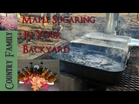 Backyard Maple Syrup Part 2 - Makeshift Evaporator and Bottling Syrup -  YouTube - Backyard Maple Syrup Part 2 - Makeshift Evaporator And Bottling