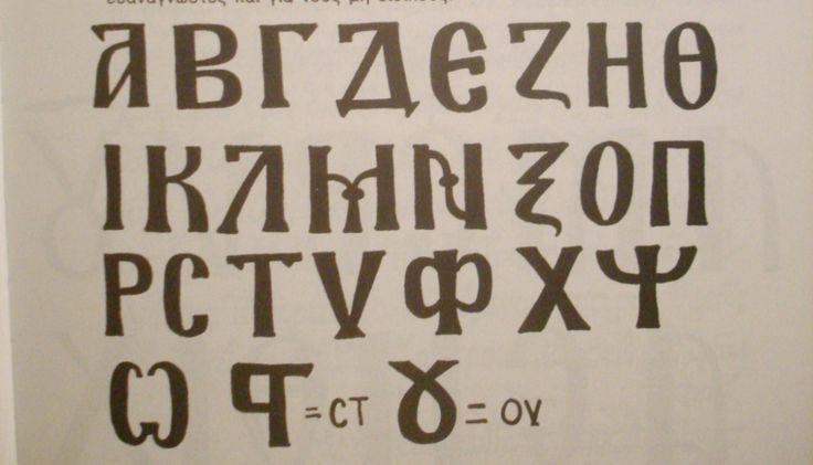 Greek Alphabet For Icons Pisanie Duchowosc Ikon