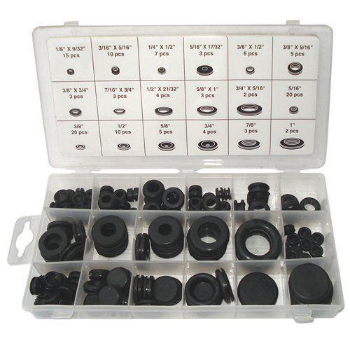 Black Bull 125 Piece Rubber Grommet Assortment Set By Buffalo 14 99 Ctd07301 Features Convenient Re Sealable Plast Rubber Grommets Plastic Case Black Bull