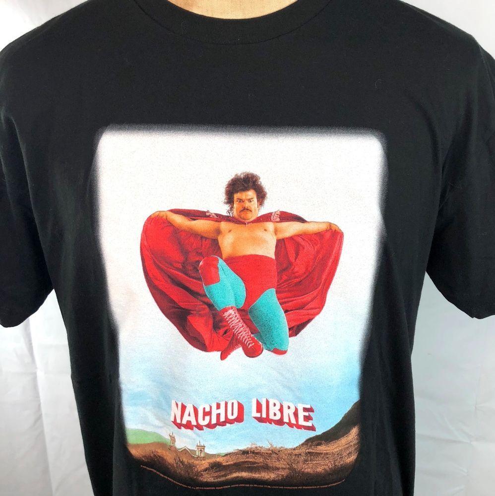 Nacho Libre Nickelodeon Movie 2006 T Shirt Xl Men Jack Black Wrestling Luchadore Ebay Nacho Libre Dude Perfect T Shirts For Women