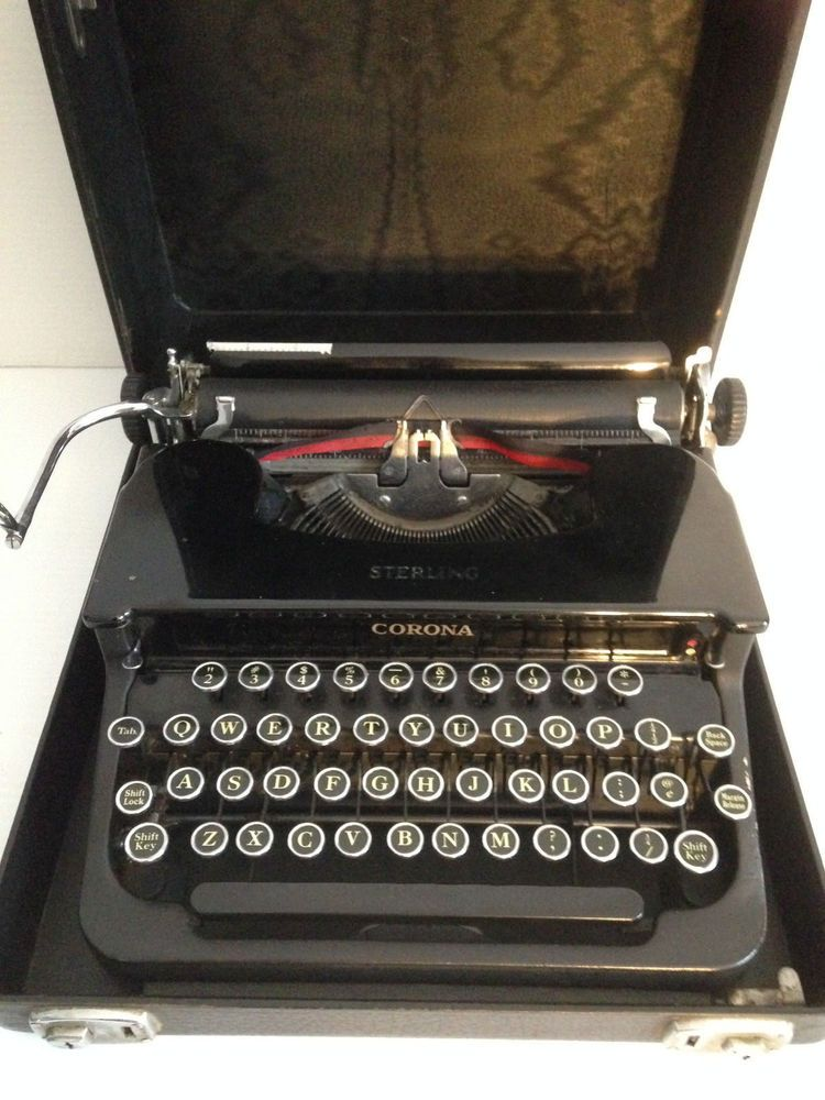 Old Typewriter Erika Typewriter Old Vintage In Case Office Typewriters & Word Processors
