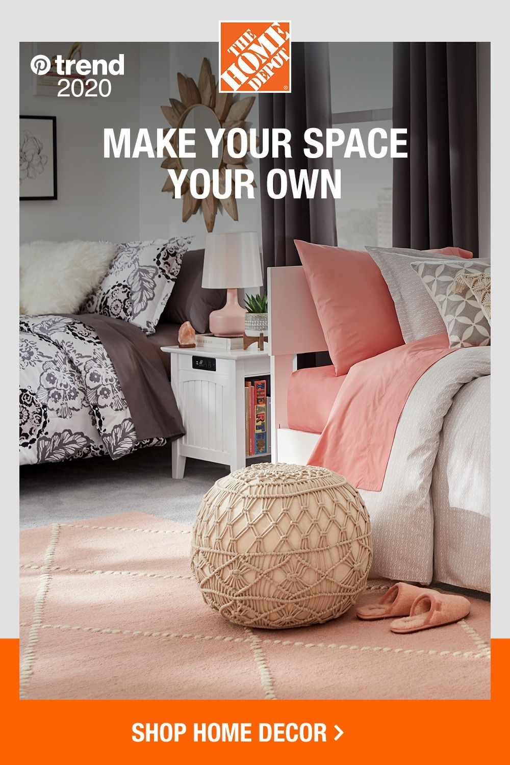Customize your space with on-trend furniture, cozy bedding and wall decor  from The Home Depot. Our Stylewell … in 2020 | Home decor, Blue living room  decor, Home decor sets