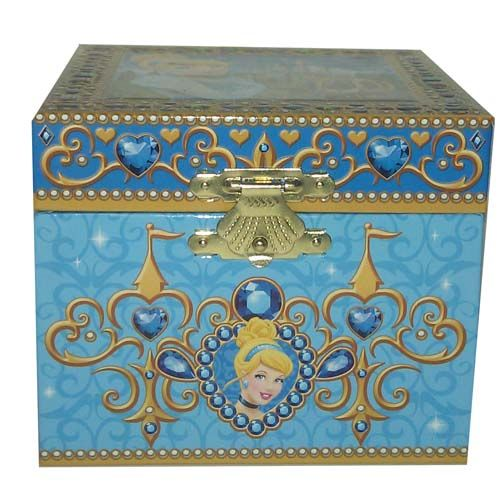 Your WDW Store Disney Trinket Box Cinderella Musical Jewelry Box