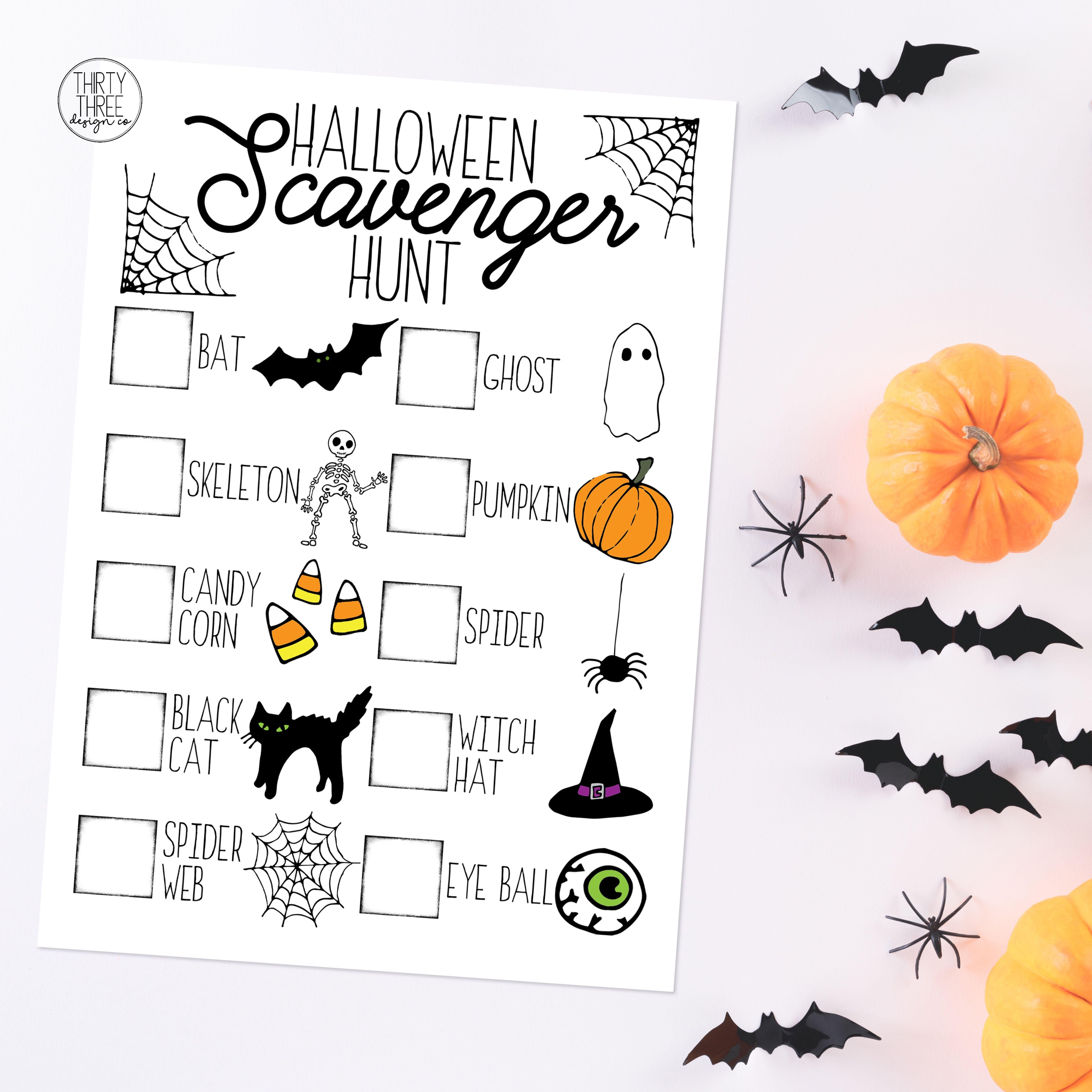 Classroom Halloween Activities 2020 Halloween Scavenger Hunt / Printable Halloween Kids Activity
