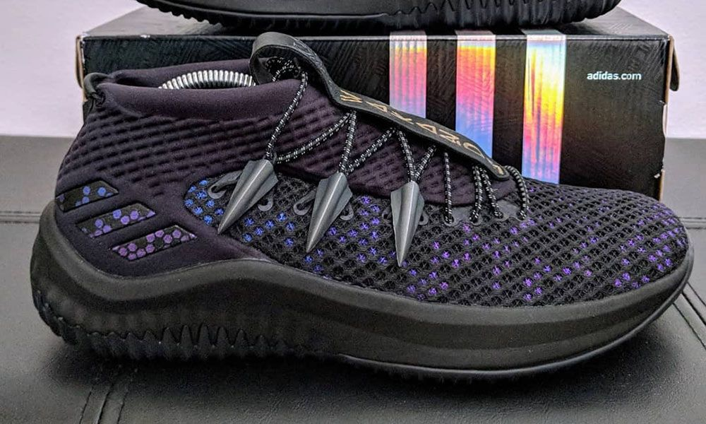 """This DAME 4 was reworked with Black Panther and Wakanda freshness in mind.  Featuring a """"Vibranium"""" upper e39af43f9"""