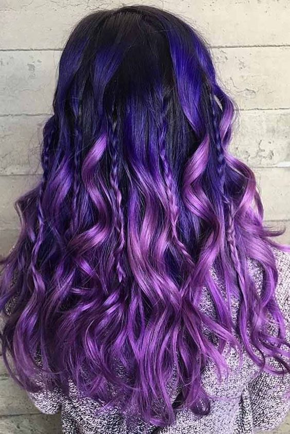 46+ Purple hair with lowlights trends