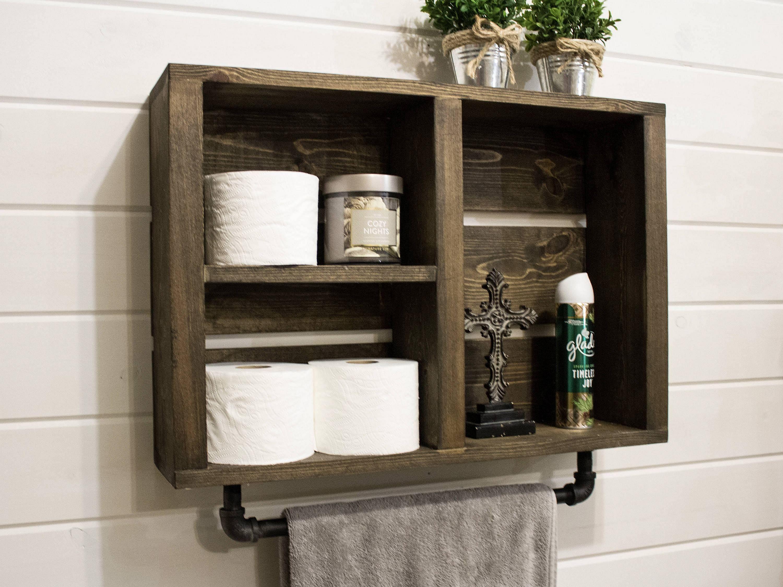 20 extraordinary rustic bathroom wall shelves and