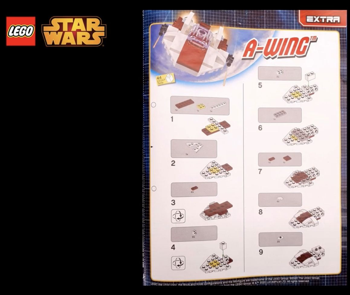 Lego Star Wars Limited Edition 912060 A-Wing