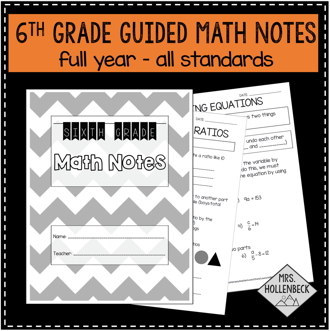 6th Grade Guided Math Notes
