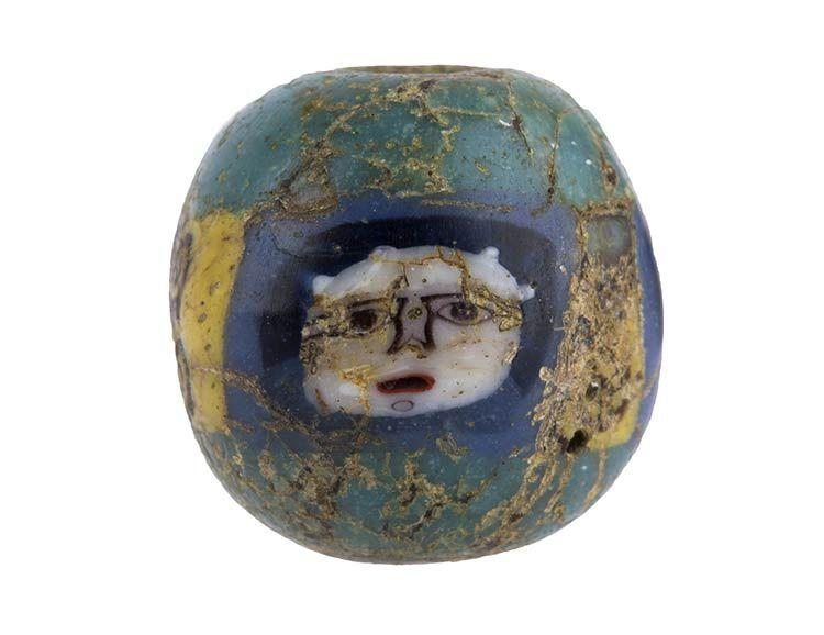 Egyptian face bead mosaic glass vetro per mosaico