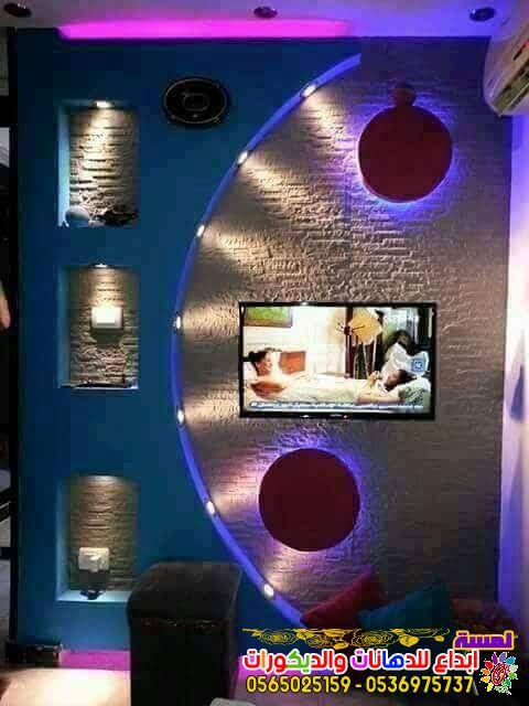 احدث ديكورات شاشات بلازما جبس بورد بجده 2019 Wall Tv Unit Design Wall Unit Designs Tv Wall Design