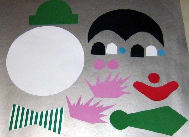 Step-by-Step Bastelanleitungen: Bastelvorlage Clown aus ...