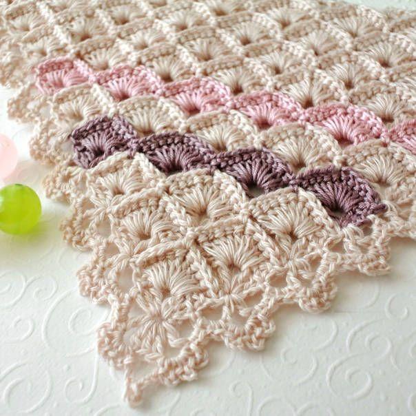 üçgen örgü şal yapımı-21 | 2 | Pinterest | Croché, Ganchillo y ...