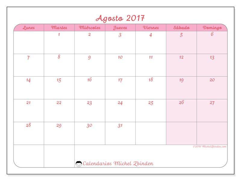 Calendario Michel Zbinden.Calendarios Para Imprimir Calendario 2017 Free Printable