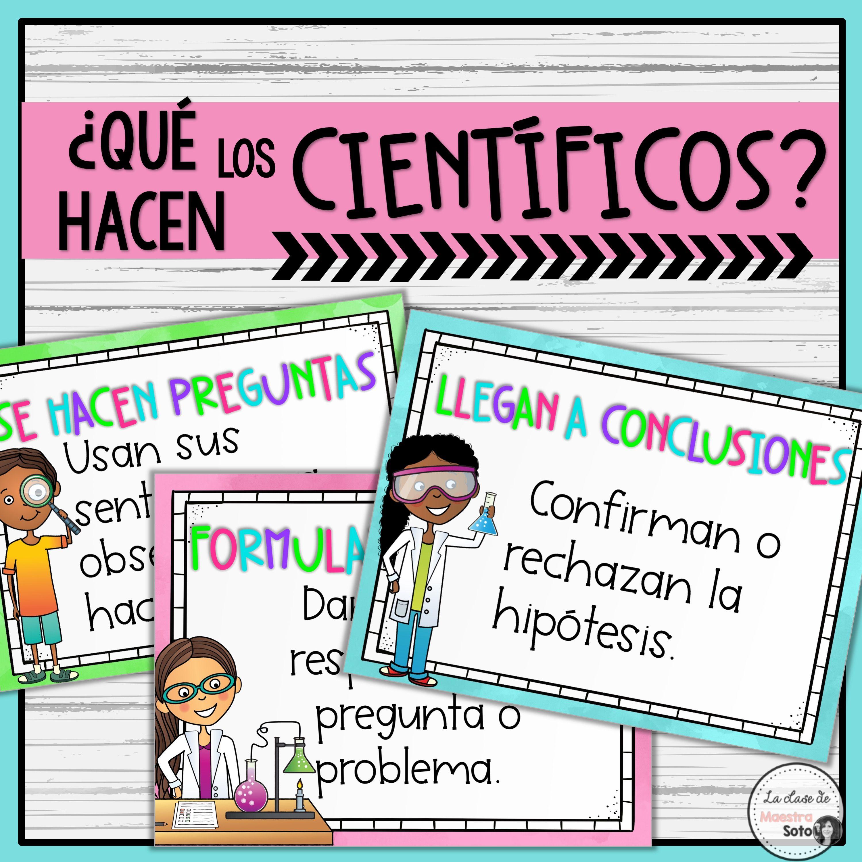 Spanish Scientific Method Posters Cartel Metodo