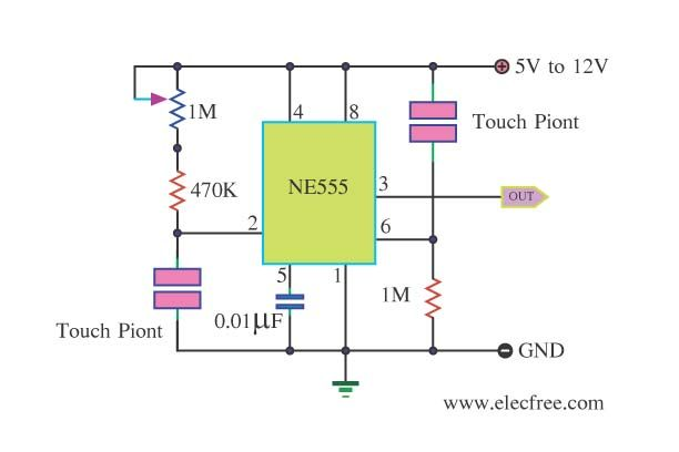555 Timer Circuits Schematics Further Simple Buzzer Circuit On Touch