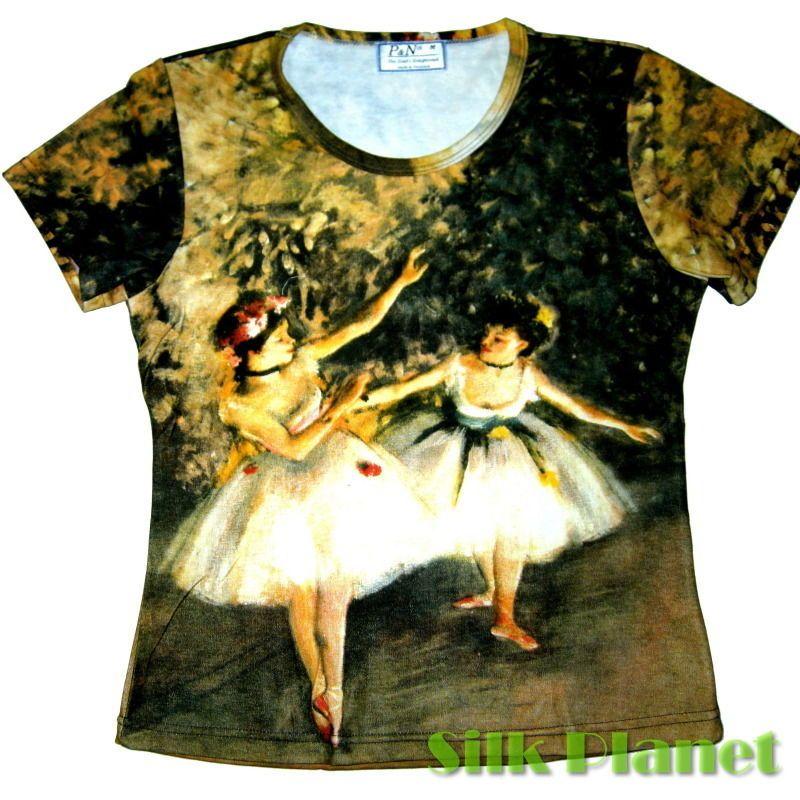 cccd7d3e28658 DEGAS 2 TWO DANCERS BALLET T SHIRT IMPRESSIONISM FINE ART PRINT ...