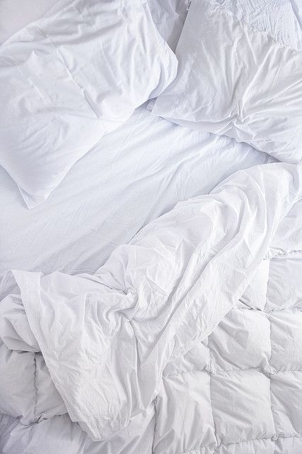 Just Any Nice White Bed Sheets. Not T Shirt Material.