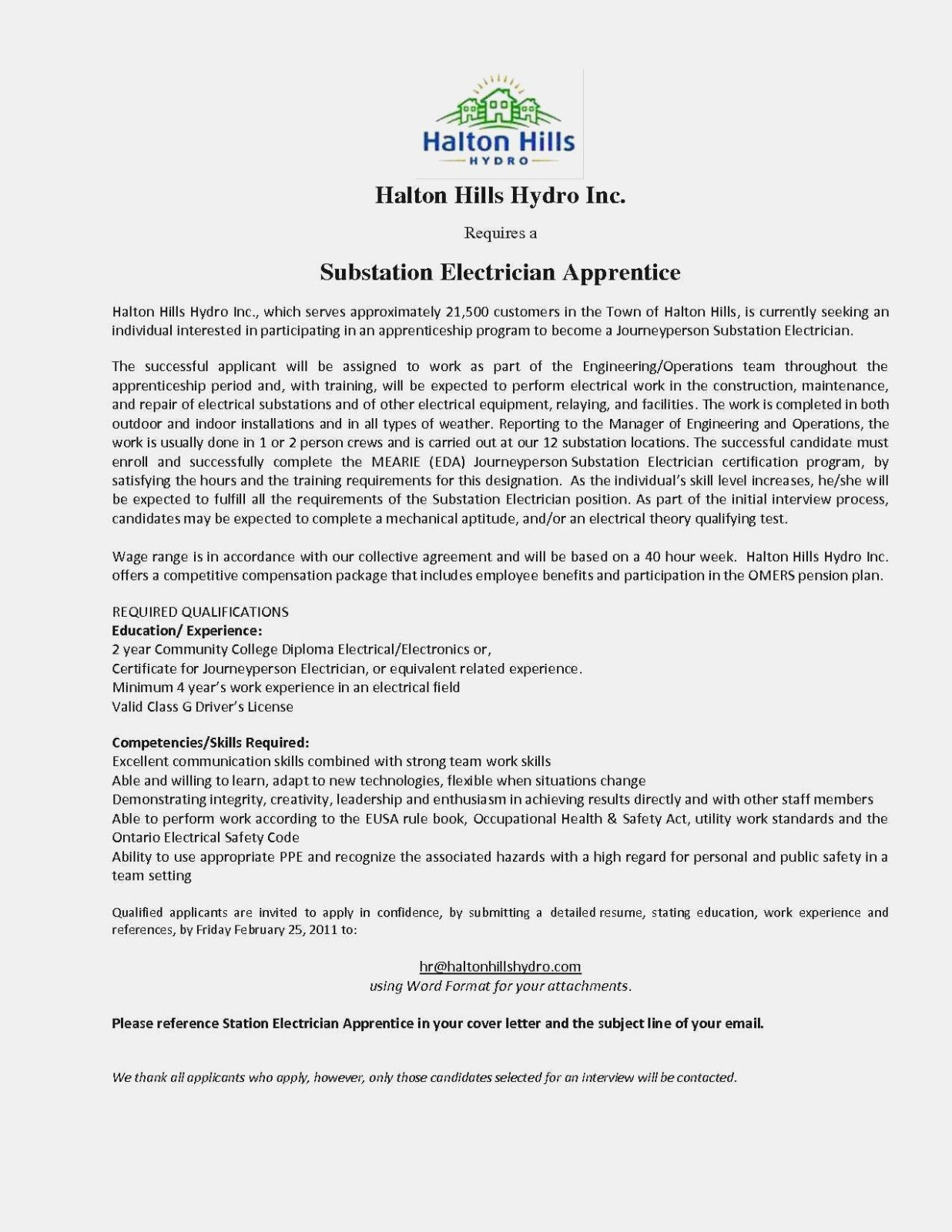 Apprentice electrician resume objective examples in 2021