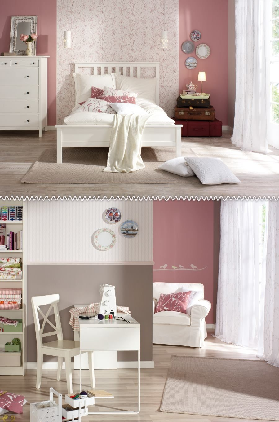 wohnen living einrichten die stilwelt rosarot stiltalent die kollektionslinie der toom. Black Bedroom Furniture Sets. Home Design Ideas