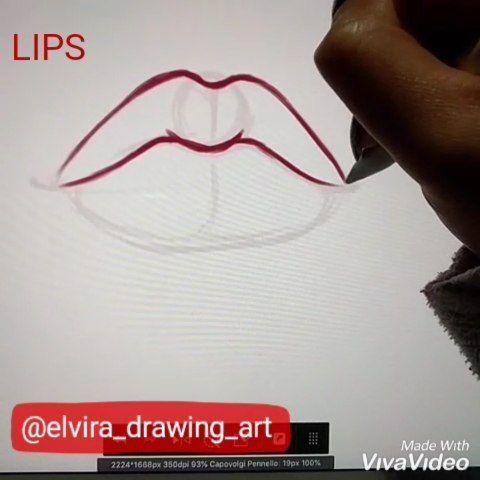 "Elvira 🦊 on Instagram ""Digital lips practice. App"