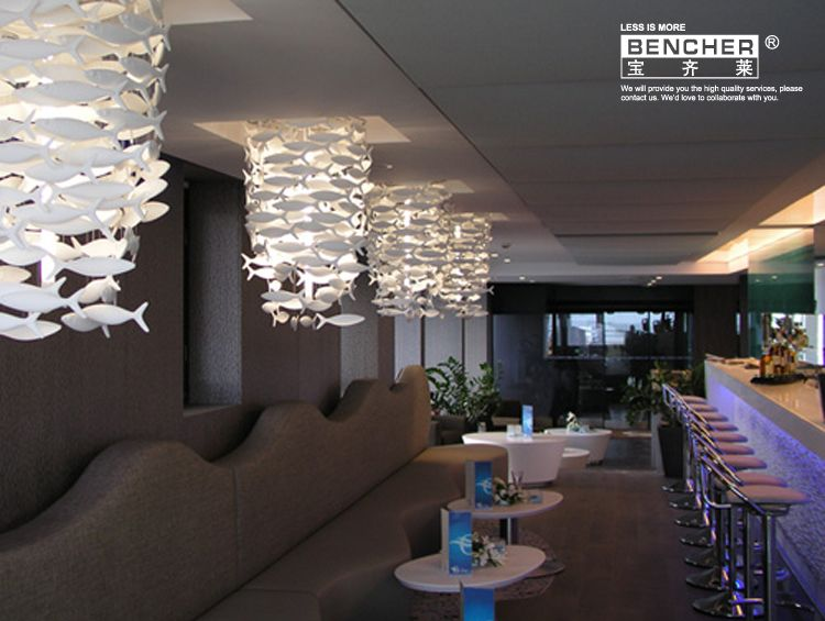Drawing Vertical Lift Simple Fashion Ikea Dining Room Living Chandelier Creative Ceramic Lamp Decorative Lighting Lamps Fish Products