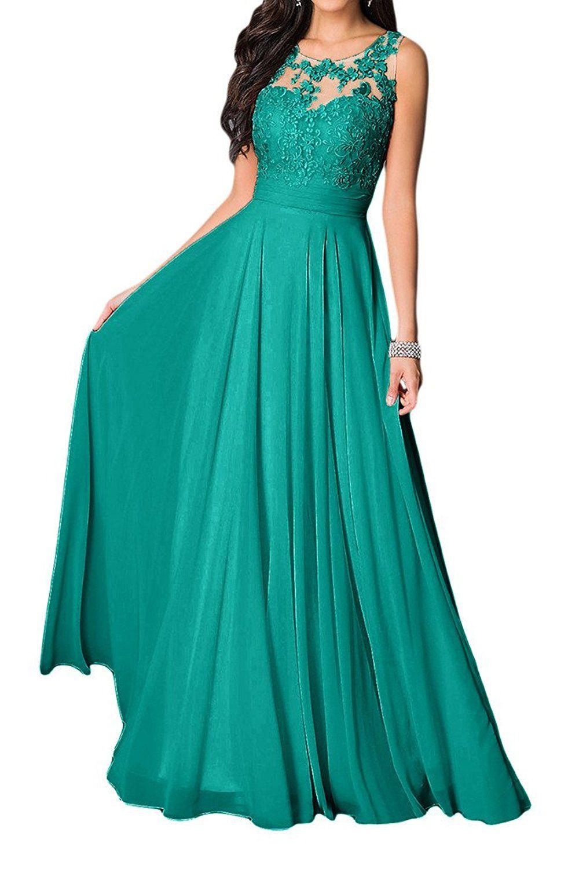 Shoppen Sie Missdressy Damen Elegant Chiffon Charmeuse Applikation