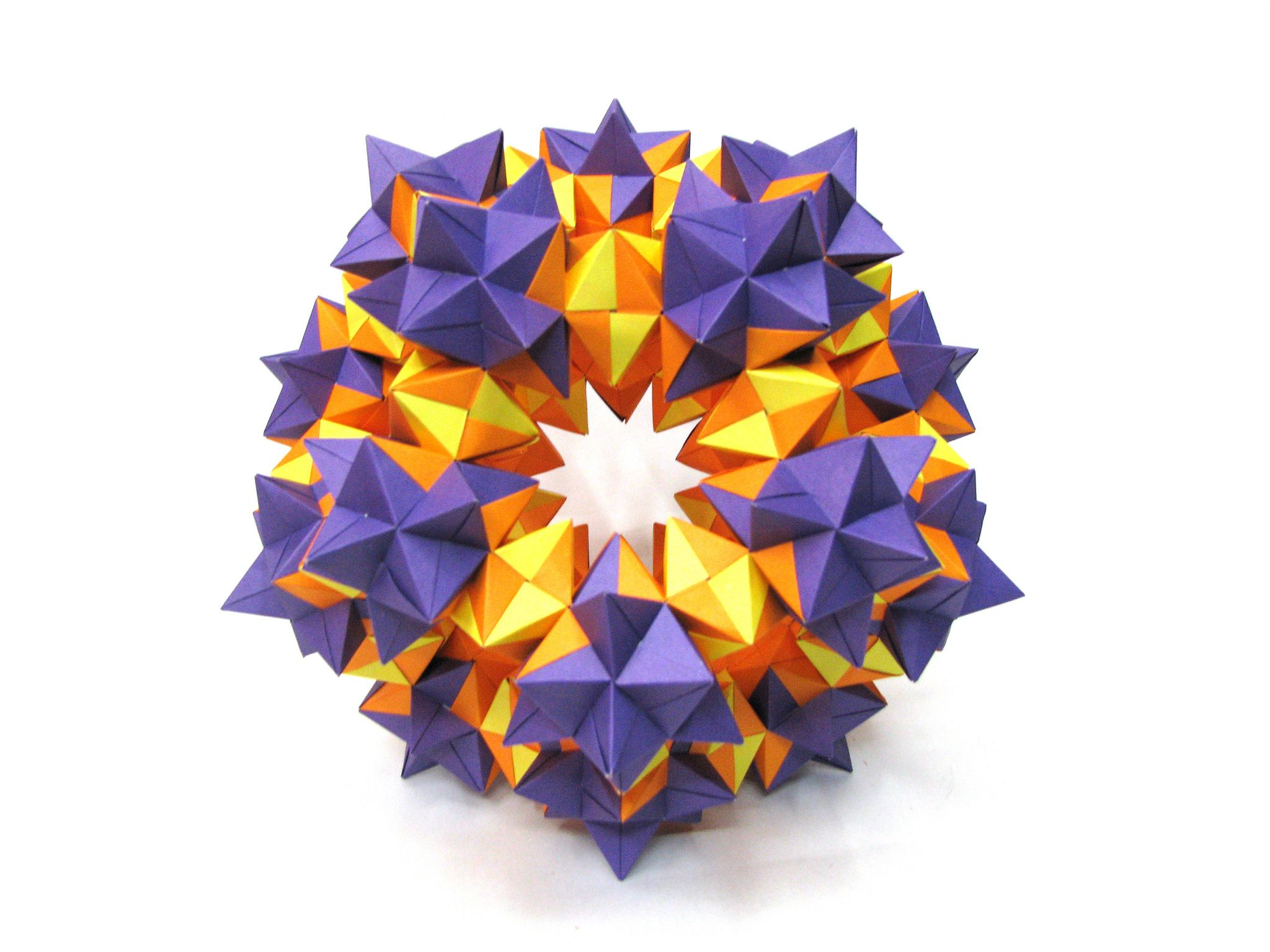 Origami Structure Of 570 Triangular Units