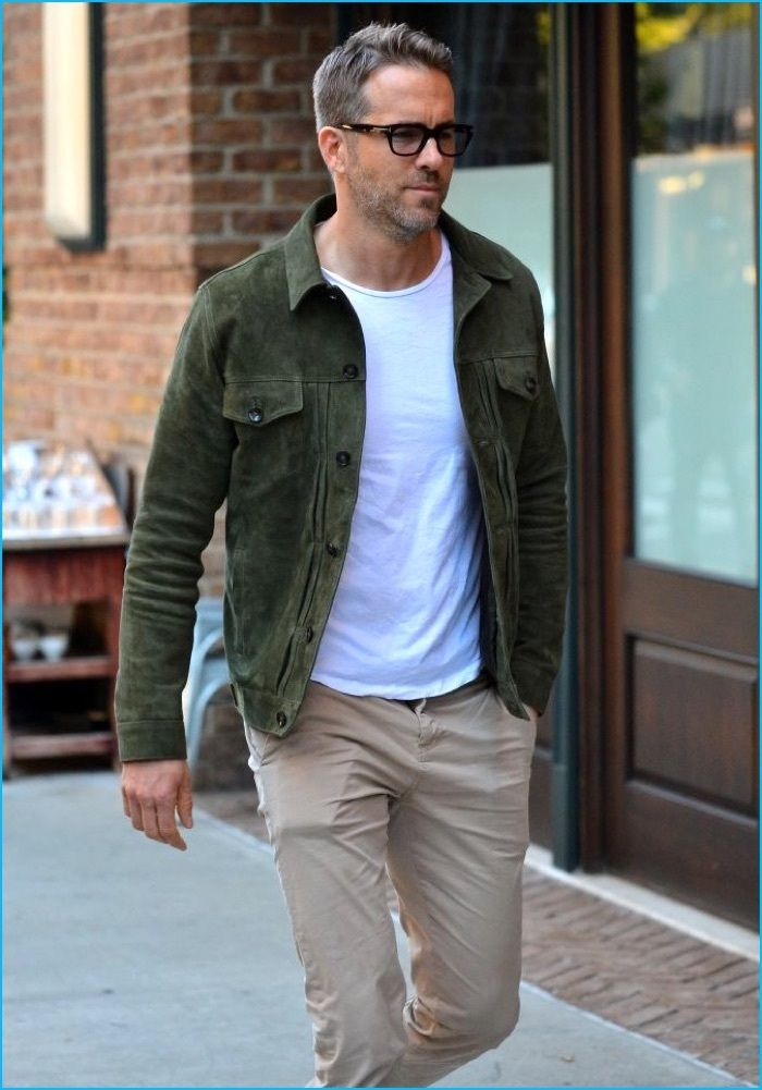 4cc7ee55e71 Take a Casual Style Note from Ryan Reynolds  Embrace the Suede Jacket
