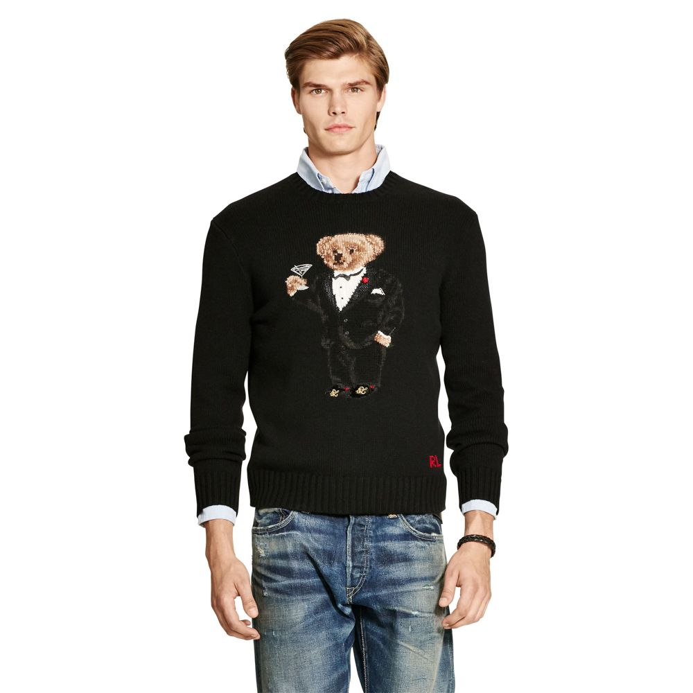 3b2799589 Trendy Styles - POLO RALPH LAUREN TUXEDO BEAR WOOL-BLEND SWEATER ...