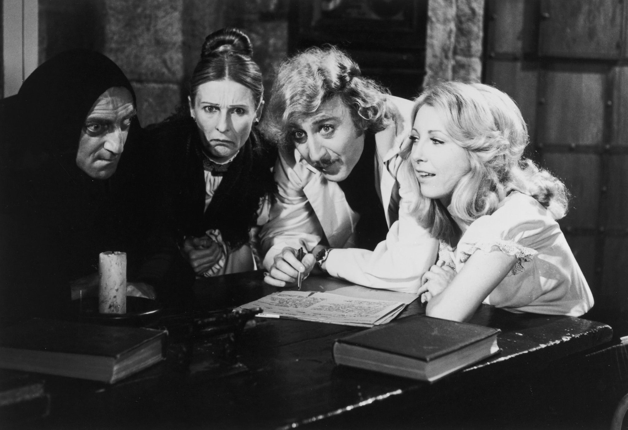 Teri Garr, Gene Wilder, Marty Feldman and Cloris Leachman