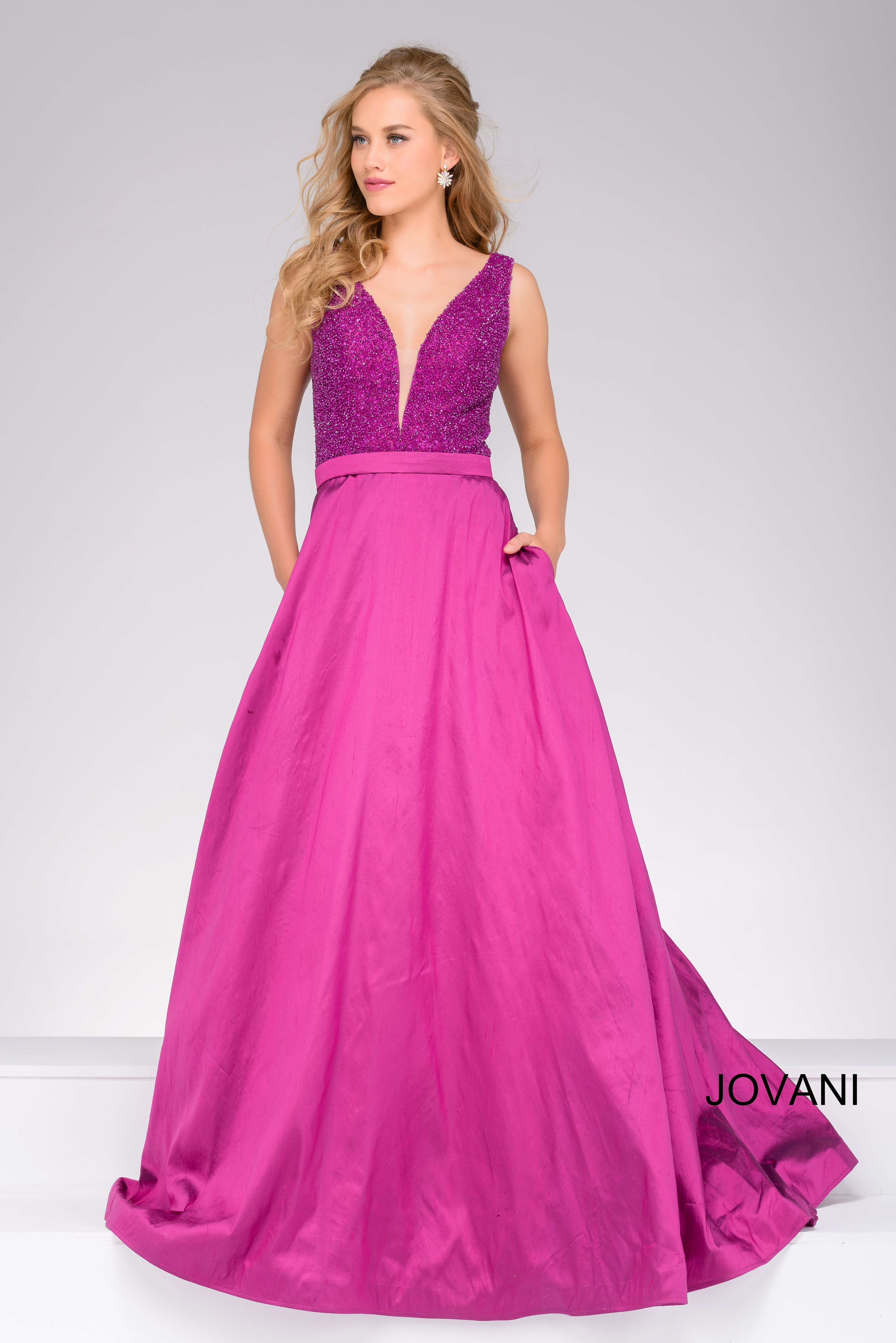 Pretty in pink Jovani style 40712 available at WhatchamaCallit ...