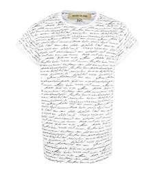 White script print t-shirt $36.00